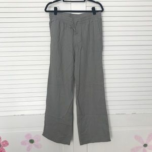 Wide Leg Grey Linen Pants